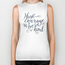 Have Courage and Be Kind (navy colorway) Biker Tank