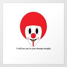 Clown #1 Art Print