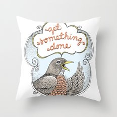 Get Something Done Throw Pillow