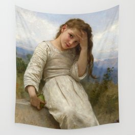 """William-Adolphe Bouguereau """"La Petite Maraudeuse (The Little Thief)"""" Wall Tapestry"""