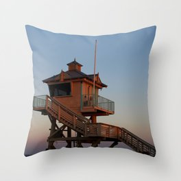 Guard Tower At Dusk Throw Pillow