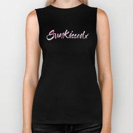 SunKissed x Pink Watercolor Typography Biker Tank