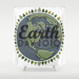Earth Day 2019 - Textured paper Shower Curtain