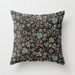 Barca Dots Pattern brown/grey/black Throw Pillow