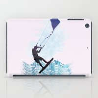 les mis iPad Cases featuring [mis]interpreting kiteboarding by crayzeestuff