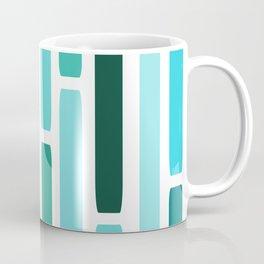 Mid Century Modern Stripes Turquoise Coffee Mug