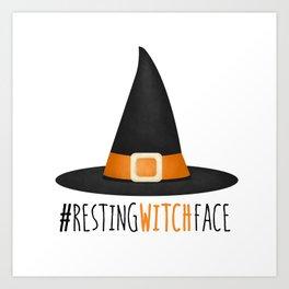 #RestingWitchFace Art Print