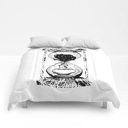Morning coffee hourglass Comforters