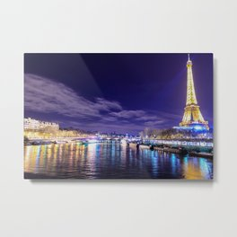 Paris Nights Metal Print