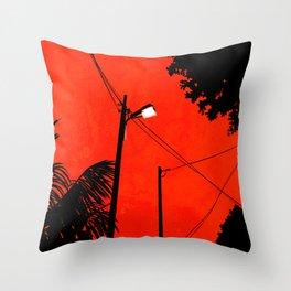 Red Sky 02 Throw Pillow