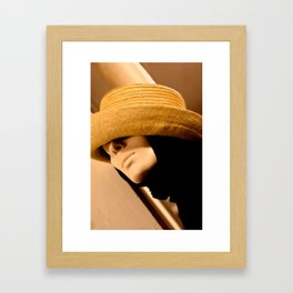 Yellow Hat Framed Art Print