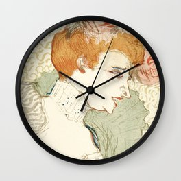 """Henri de Toulouse-Lautrec """"Mademoiselle Marcelle Lender, en Buste"""" Wall Clock"""