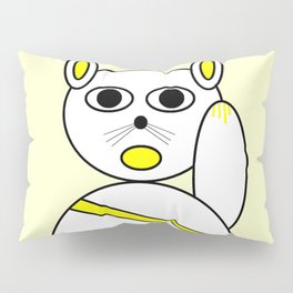 Maneki neko golden version. Pillow Sham