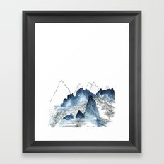 Love of Mountains Framed Art Print