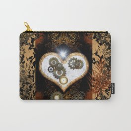 Steampunk, beautiful heart  Carry-All Pouch