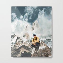 hiking in patagonia Metal Print