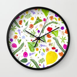 Leaves and flowers (9) Wall Clock