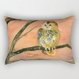 Colorful Owl Art Rectangular Pillow