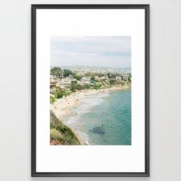 Laguna Beach Lookout Framed Art Print