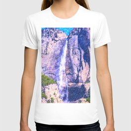 View on Yosemite National Park Waterfall T-shirt