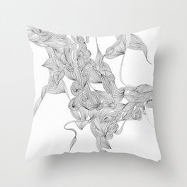 short story of a hair lock Throw Pillow