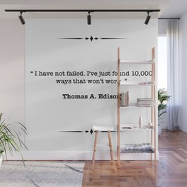 Thomas A. Edison Quote Wall Mural