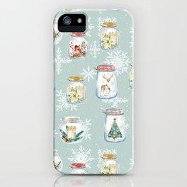 Christmas Jars Mint iPhone Case