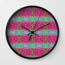 Psychedelic fractal Wall Clock