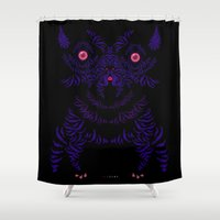 yorkie Shower Curtains featuring Yorkie by lunesme