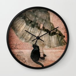 Bad Kitty Wall Clock