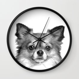 Black and White Chihuahua Wall Clock