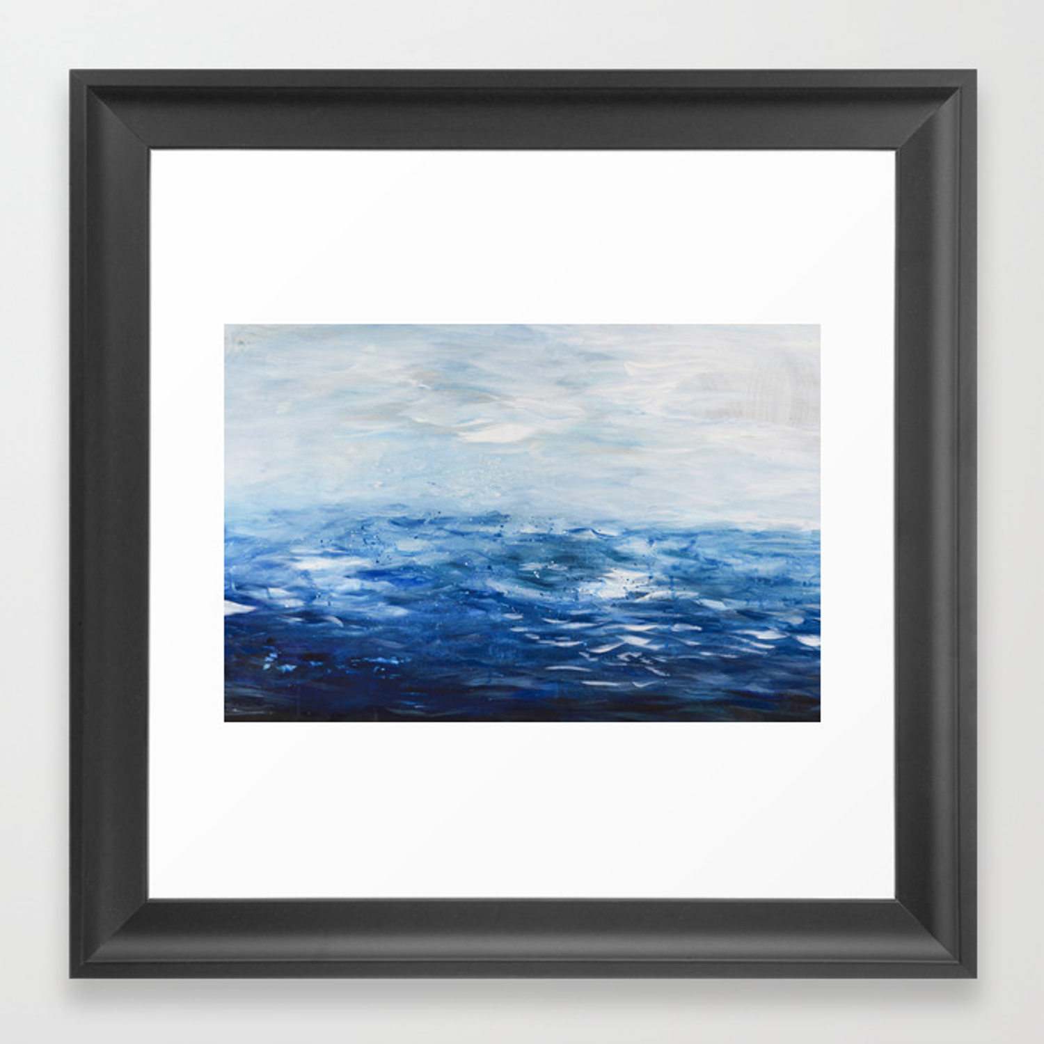 Paint 10 Abstract Water Ocean Seascape Modern Painting Dorm Room Decor Affordable Stretched Canvas Framed Art Print By Andrealauren Society6