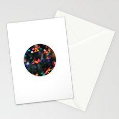 Valentine Love Heart Bokeh circle print Stationery Cards