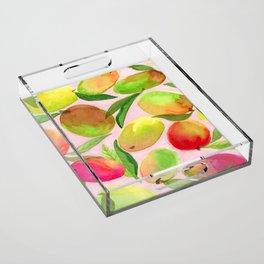 Mango Watercolor Painting Acrylic Tray