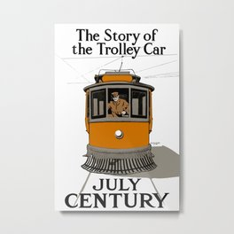 The Story Of The Trolley Car - Vintage Advertising Metal Print