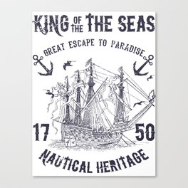 King of the seas Canvas Print