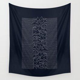 Furr Division Cats (Dark Blue) Wall Tapestry