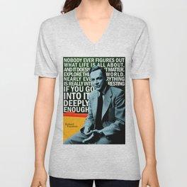 Richard Feynman Quote 1 Unisex V-Neck