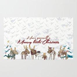 Moosey Little Christmas Rug