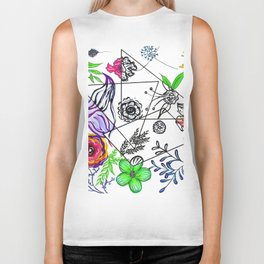 Bet You Guessed I Like Flowers Biker Tank