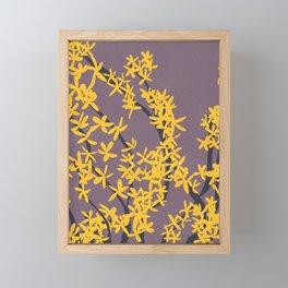 Forsythia II Framed Mini Art Print
