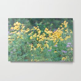 In a tangle - wildflower nature photography Metal Print