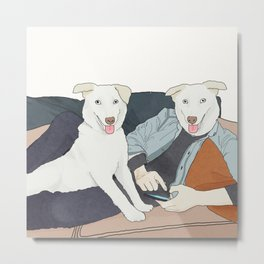 Doge n' Doge Metal Print