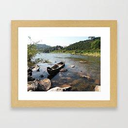 a alone boat Framed Art Print