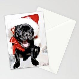 Xmas Frenchie II Stationery Cards