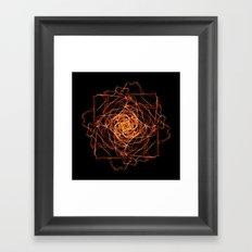 Fire Rose Framed Art Print