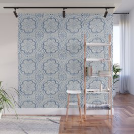 Blue Floral Wall Mural