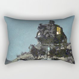 "Frederick Remington ""The Old Stagecoach"" Rectangular Pillow"