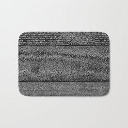 The Rosetta Stone // Black Bath Mat