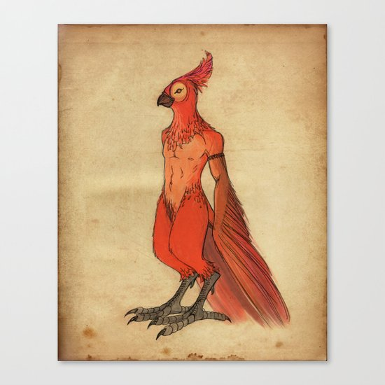 Jardis the Bird King Canvas Print